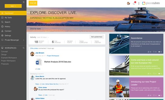 Example of a branded intranet